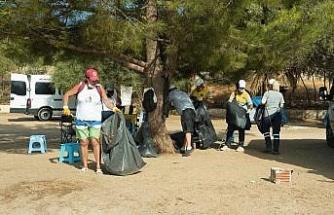 Didim'de kıyı temizliği yapıldı