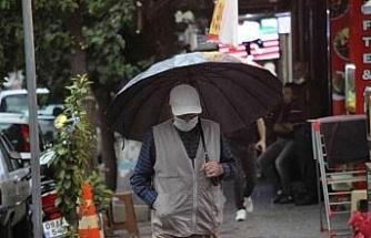 Aydın'da beklenen sağanak yağış başladı