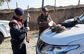 Aydın'da yasaklanmış yöntemlerle avlanan avcılar ekiplere takıldı