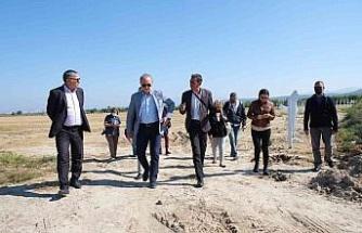 Didim Belediyesi boş arazisini değerlendirerek ürün ekecek