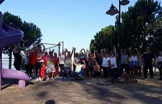 Didim'de sağlık için spor yap etkinliği devam ediyor