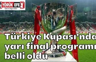 Türkiye Kupası'nda yarı final programı belli oldu