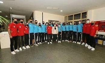 Başkan Çerçioğlu Balkan Kupası'nı kazanan Aydın'ın Sultanlarını ağırladı