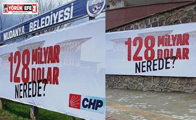 """CHP'nin """"128 milyar dolar nerede"""" afişlerine Cumhurbaşkanına hakaret soruşturması başlatıldı"""