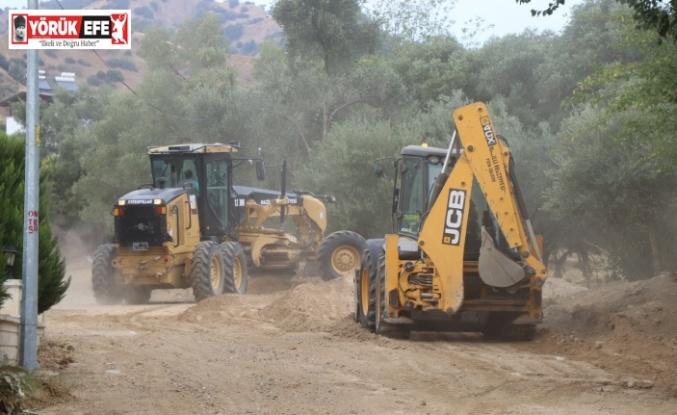 Nazilli Belediyesi Ocaklı Mahallesi'nde yeni yol açma çalışması başlattı