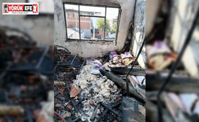 İncirliova'da ev yangını