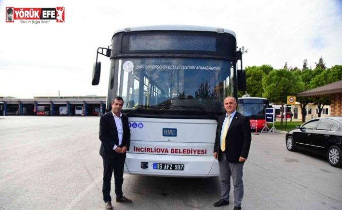 İncirliova'ya İzmir'den hibe otobüs