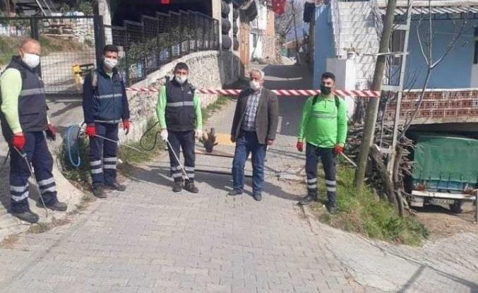 Efeler Belediyesi Karantinada Olan Sokağı İlaçladı