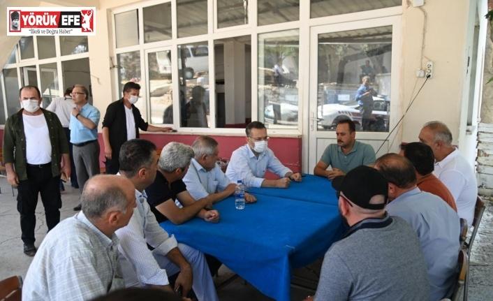 Vali Aksoy, yangınzedeleri ziyaret etti