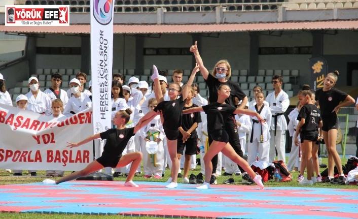 Aydın'da spor haftası coşkuyla başladı