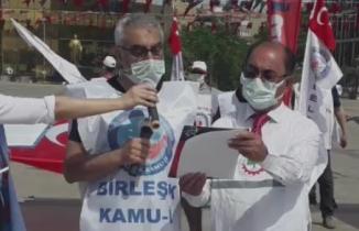 1 Mayıs Aydın Atatürk Kent Meydanında pandemiye rağmen Coşkuyla kutlandı.